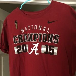 Short-sleeve T-shirt Alabama National Champion